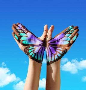 Icone papillon management ou leadership