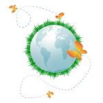 Entreprendre, communication sociétale, rendre compte en développement durable ou RSE, icone
