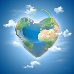terre comprendre les enjeux du défi de la quantité de la terre icone love planet 3d concept - heart shaped earth