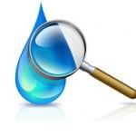 titre eau pollution goutte eau loupe
