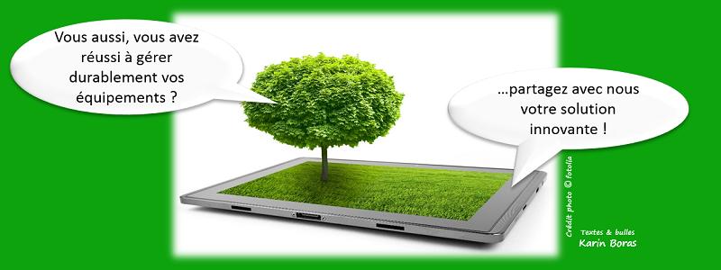 Informatique, équipement gérer en développement durable ou RSEn, entreprise exemple
