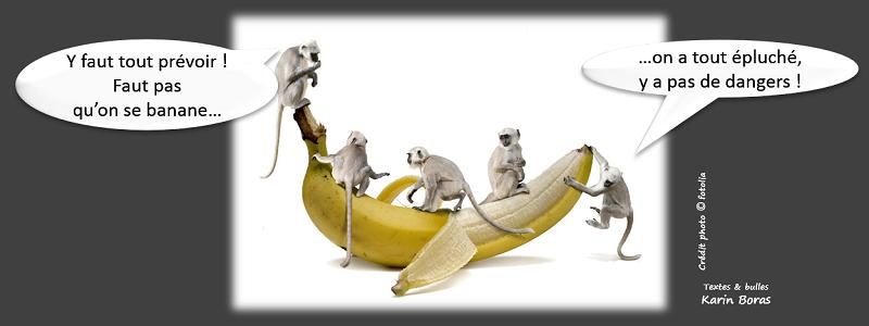 Y faut tout prévoir ! Faut pas qu'on se banane : on a tout épluché, y a pas de dangers !